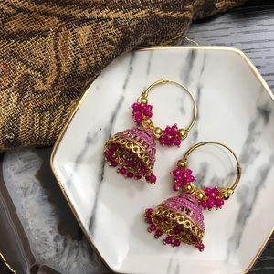 NEW Gold Boho Bell Drop Hoop Earrings (Multiple)